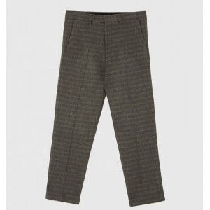 Man Casual Men'S Formal Pant Trousers Slim-Fit Slacks With Flaps And Buttons At The Back Pocket