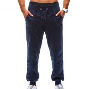 Apered Slacks Solid Color French Terry Sweatpants