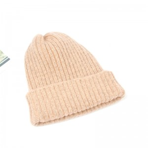 Classic Men'S Warm Winter Hats Acrylic Knit Cuff Beanie Cap Daily Ribbed Beanie Hat