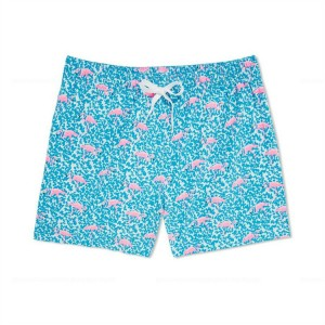 High Quality 4 Way Stretch Sublimation Printed Women Men Swim Trunks For Sale